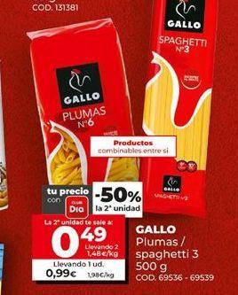 Oferta de Pasta Gallo por 0,99€