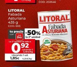 Oferta de Fabada Litoral por 1,85€
