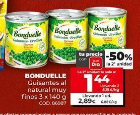 Oferta de Guisantes Bonduelle por 2,89€