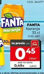 Oferta de Refresco de naranja fanta por 0,45€