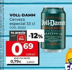 Oferta de Cerveza especial Voll-Damm por 0,69€