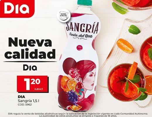 Oferta de Sangría Dia por 1,2€