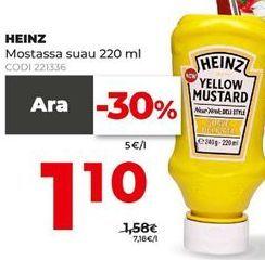 Oferta de Mostaza Heinz por 1,1€