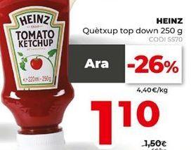 Oferta de Ketchup Heinz por 1,1€