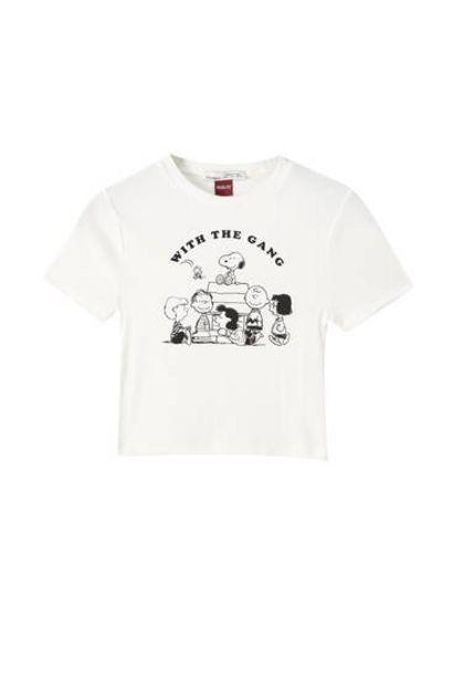 Oferta de Camiseta Snoopy canalé por 12,99€