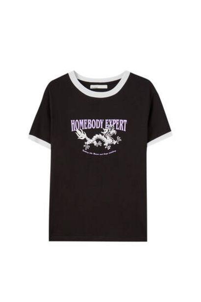 Oferta de Camiseta dragón rib contraste por 5,99€