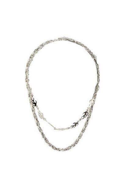 Oferta de Pack collares llamas plateado por 5,99€
