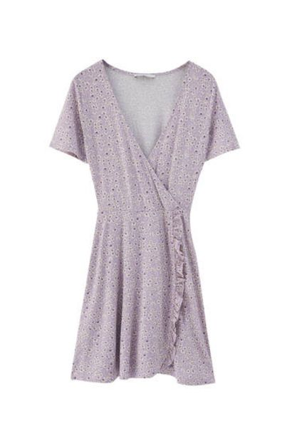 Oferta de Vestido mini estampado bailarina por 17,99€