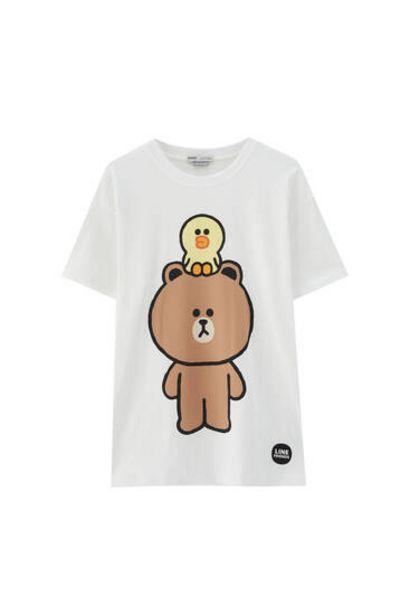 Oferta de Camiseta Brown & Sally Line Friends por 12,99€