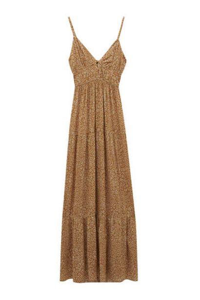 Oferta de Vestido largo tirantes flores- 100% ECOVEROTM Viscosa por 29,99€