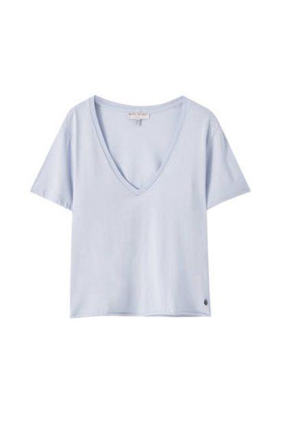 Oferta de Camiseta básica azul claro por 7,99€