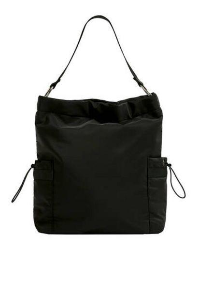 Oferta de Bolso shopper tejido detalle bolsillos por 15,99€