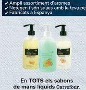 Oferta de En TODOS los jabones de mano líquidos Carrefour  por