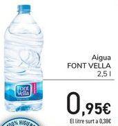 Oferta de Agua Font Vella  por 0,95€
