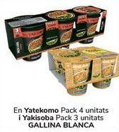 Oferta de En Yatekomo y Yakisoba GALLINA BLANCA por