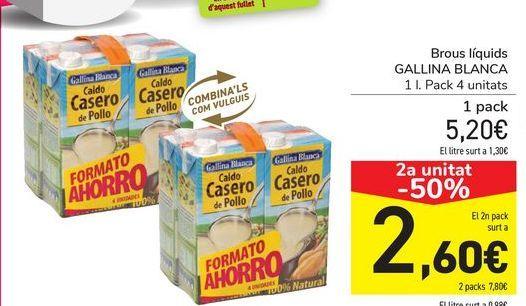 Oferta de Caldos líquidos GALLINA BLANCA por 5,2€