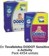 Oferta de En Toallitas DODOT Sensitive o Activity  por