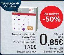 Oferta de Servilletas decoradas Carrefour Home  por 1,7€