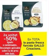 Oferta de En TODA la pasta fresca rellena GALLO Creaciones por