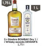 Oferta de En ginebra BOMBAY Dry y Whisky escocés DEWAR'S  por