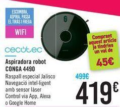 Oferta de Aspirador robot CONGA 4490 CECOTEC por 419€