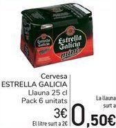 Oferta de Cerveza ESTRELLA GALICIA  por 3€
