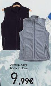 Oferta de Chaleco polar hombre o mujer  por 9,99€