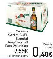 Oferta de Cerveza SAN MIGUEL Especial  por 9,55€
