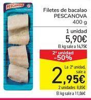 Oferta de Filetes de bacalao PESCANOVA por 5,9€