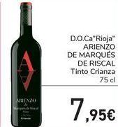 Oferta de D.O.Ca Rioja ARIENZO DE MARQUES DE RISCAL Tinto Crianza  por 7,95€