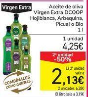 Oferta de Aceite de oliva Virgen Extra DCOOP Hojiblanca, Arbequina, Picual o Bio por 4,25€