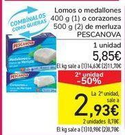 Oferta de Lomos o medallones o corazones de merluza PESCANOVA por 5,45€