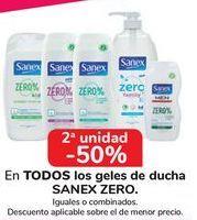 Oferta de En TODOS los geles de ducha SANEX ZERO  por