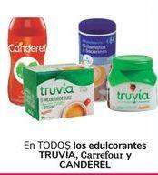 Oferta de En TODOS los edulcorantes TRUVIA, Carrefour y Canderel  por