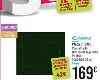 Oferta de Placa CH63CC CANDY por 169€