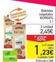 Oferta de Bebidas vegetales BORGES por 2,45€