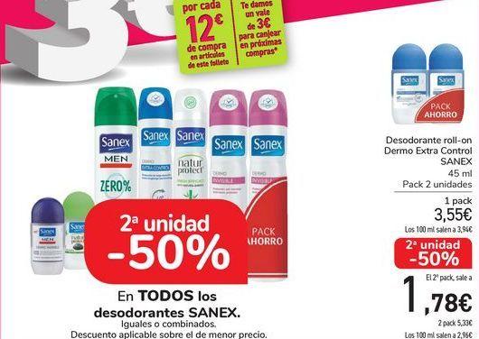 Oferta de En TODOS los desodorantes SANEX, iguales o combinados  por