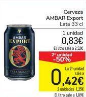 Oferta de Cerveza AMBAR Expert  por 0,83€