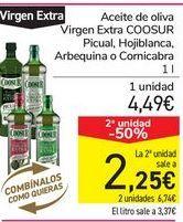 Oferta de Aceite de oliva Virgen Extra COOSUR Picual, Hojiblanca, Arbequina o Cornicabra por 4,49€
