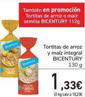 Oferta de Tortitas de arroz y mañiz integral BICENTURY  por 1,33€