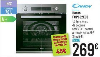 Oferta de Horno FCP602XE0 CANDY por 269€