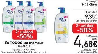 Oferta de En TODOS los champús H&S por