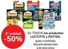 Oferta de En TODOS los productos LOCTITTE y PATTEX, iguales o combinados  por