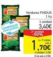 Oferta de Verduras FINDUS por 3,4€