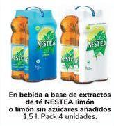 Oferta de En bebidas a base de extractos de té NESTEA Limmón o limón sin azúcares añadidos por