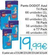 Oferta de Pants DODOT Azul  por 19,99€