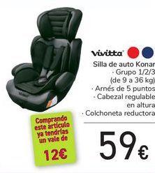 Oferta de Silla de auto Konar Vivitta por 59€
