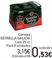 Oferta de Cerveza ESTRELLA GALICIA  por 3,15€