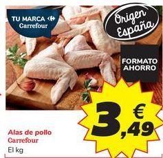 Oferta de Alas de pollo Carrefour por 3,49€