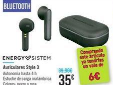 Oferta de Auriculares Style 3 ENERGY SISTEM por 35€